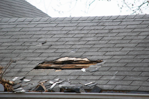Damaged roof in need of a Roof repair service